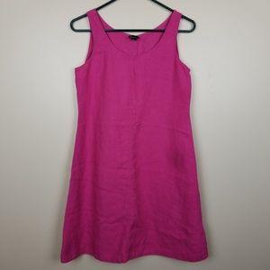 Eileen Fisher Pink 100% Linen sleeveless dress